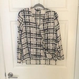 EUC Banana Republic Faux Wrap Top